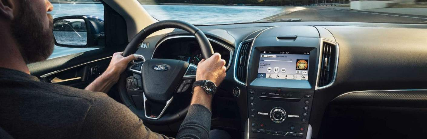 Tech Screen Inside of the 2019 Ford edge