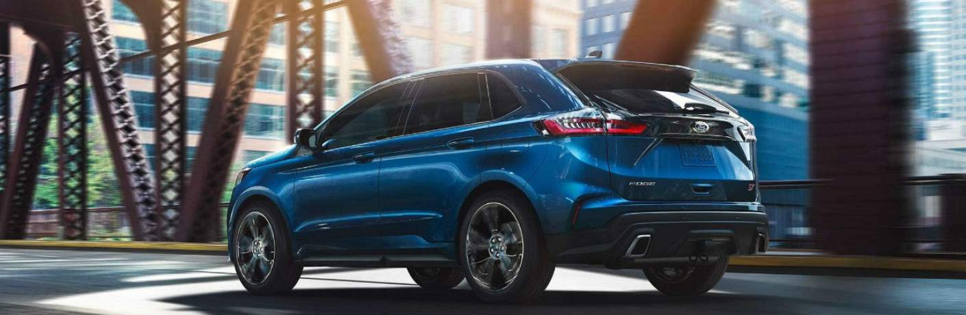 2019 Ford Edge Travelling Over a Bridge