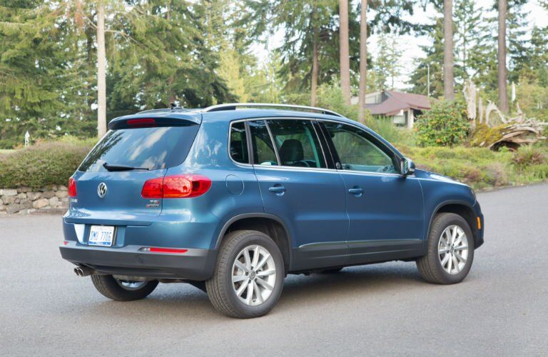 Blue 2017 VW Tiguan Rear Exterior