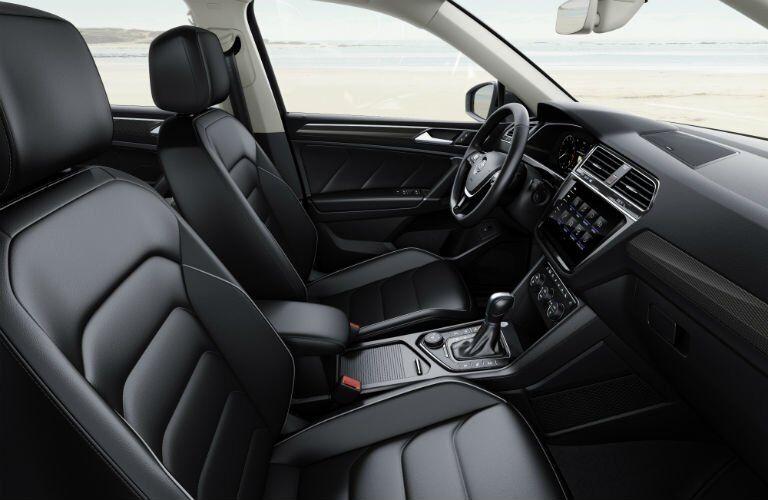 Black 2017 VW Tiguan Front Seat Interior