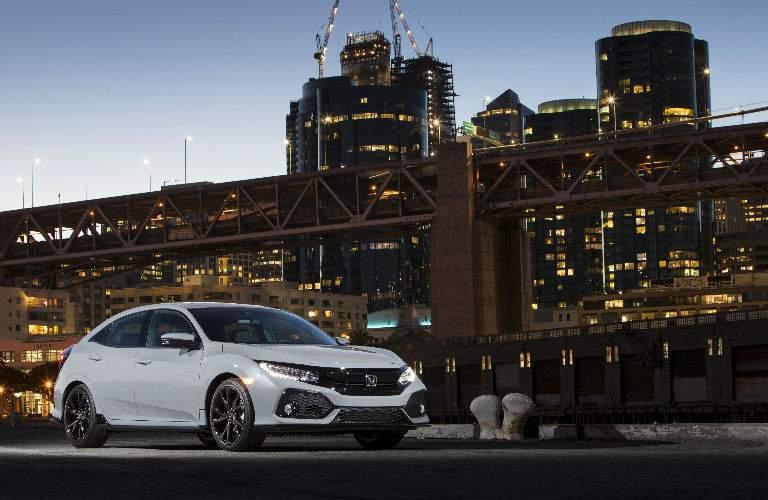 2018 Civic Hatchback in White