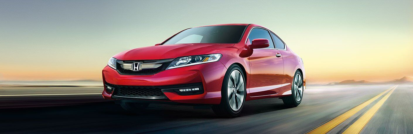 2017 Honda Accord Coupe in Red