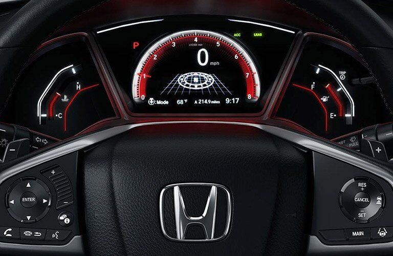 2017 Honda Civic Hatchback gauges