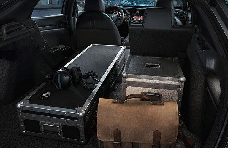 2017 Honda Civic Hatchback loaded with cargo