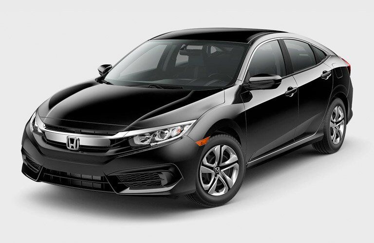 2017 Honda Civic Sedan side view black