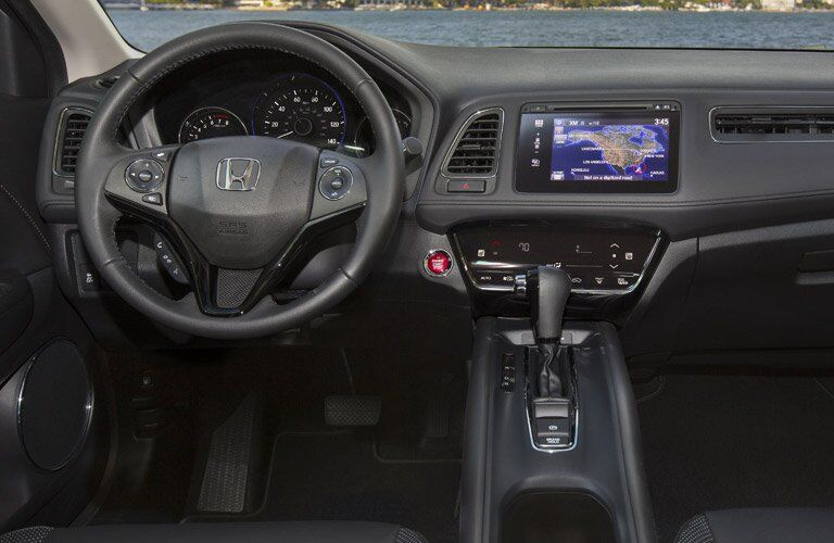 2017 Honda HR-V dashboard with steering wheel and infotainment system