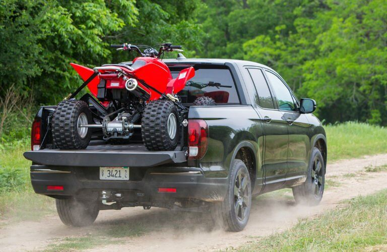 2017 Honda Ridgeline towing a 4-wheeler