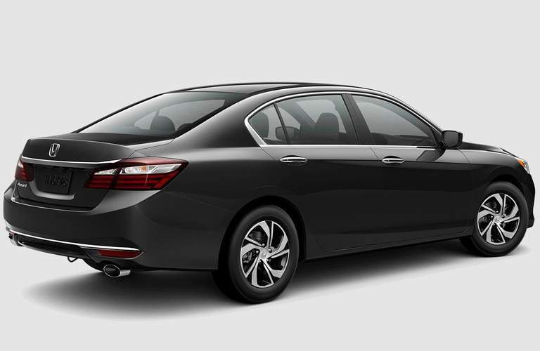 right side view of black 2017 Honda Accord