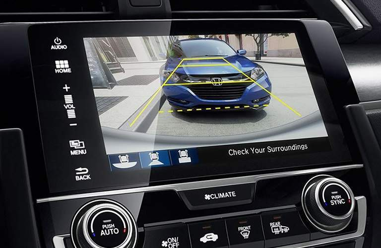 Rear view camera in the 2017 Honda Civic