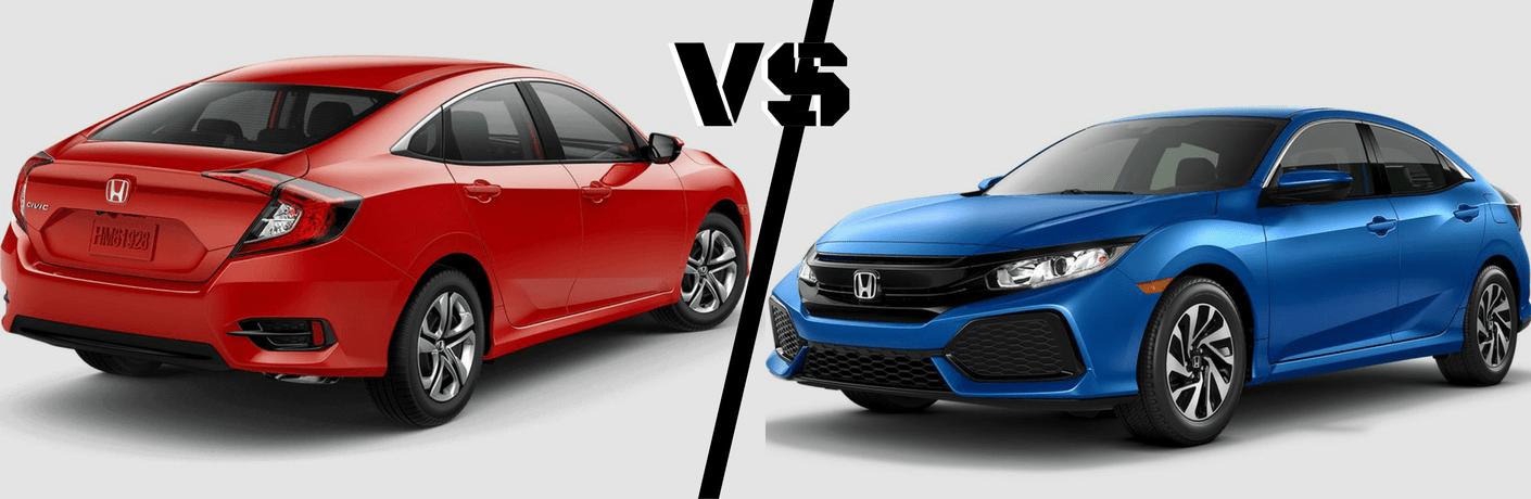 2017 Honda Civic Sedan vs Hatchback