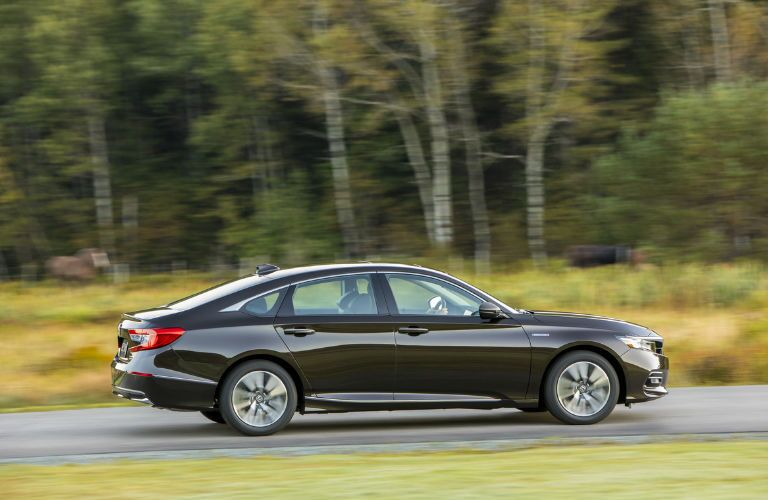 2018 Honda Accord Hybrid in Black Driving Side View