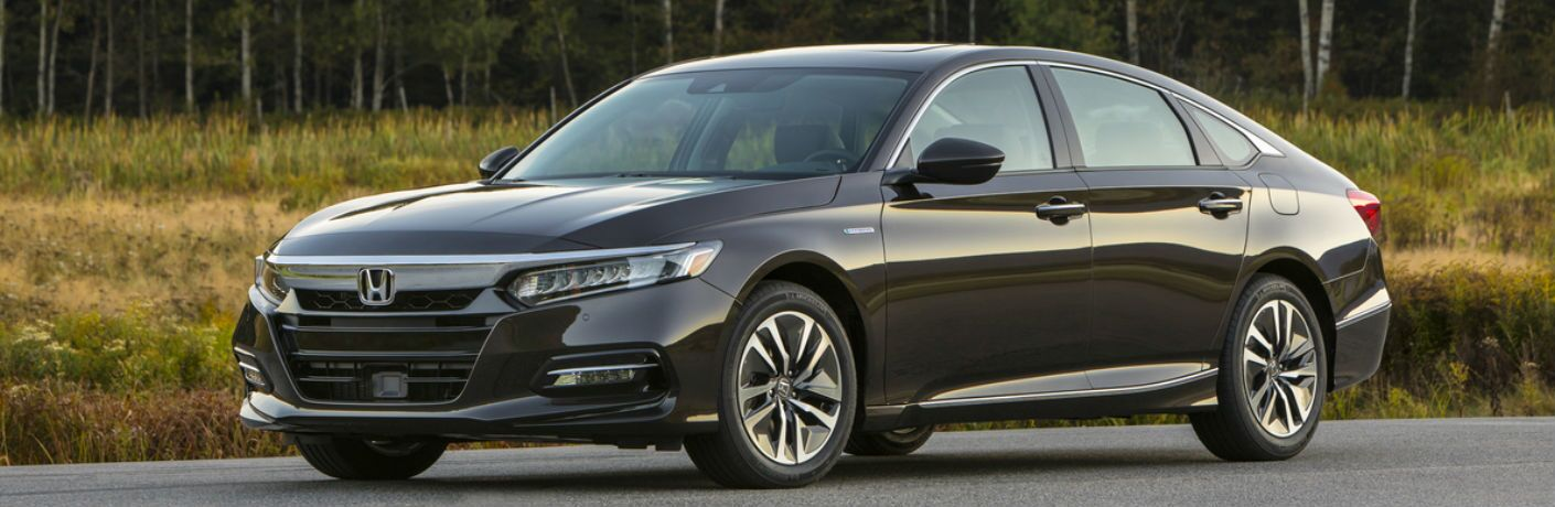 2018 Honda Accord Hybrid in Black Side View