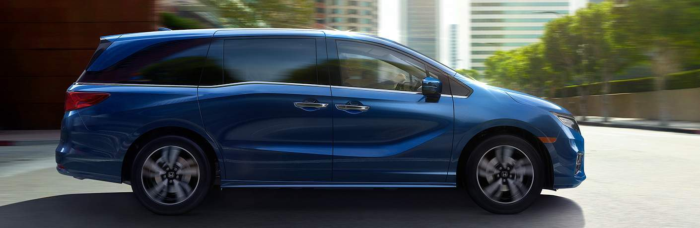 2018 Honda Odyssey Elite Blue Exterior Side View