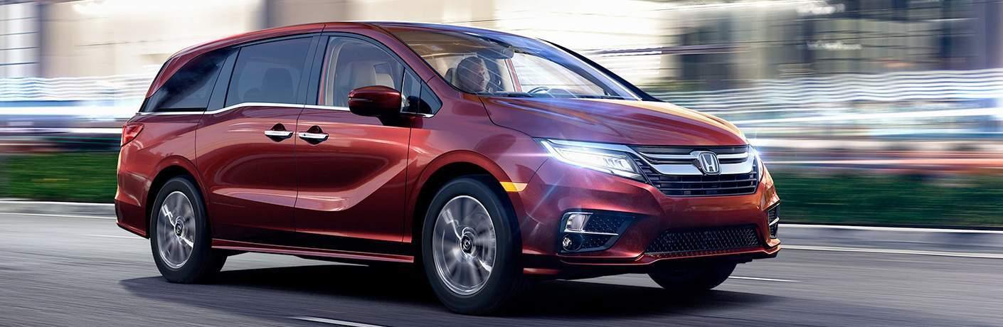 2018 Honda Odyssey Red Exterior Touring