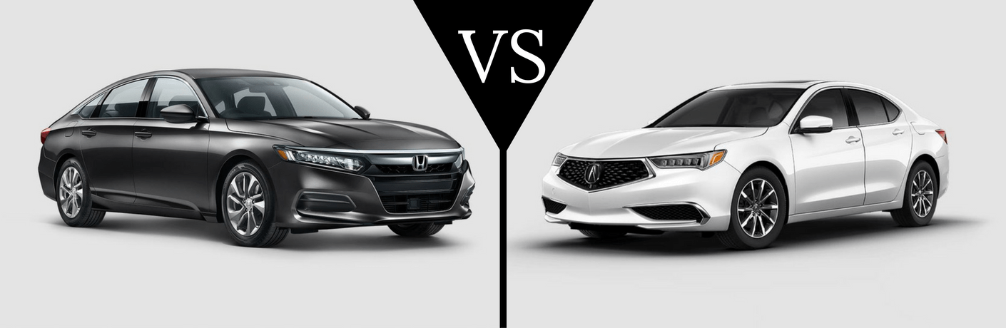 2018 Honda Accord vs 2018 Acura TLX