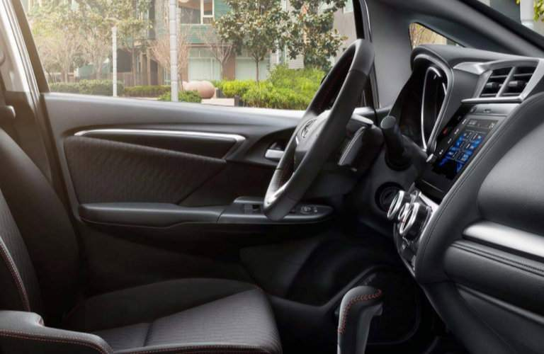 side view of the steering wheel of the 2018 Honda Fit