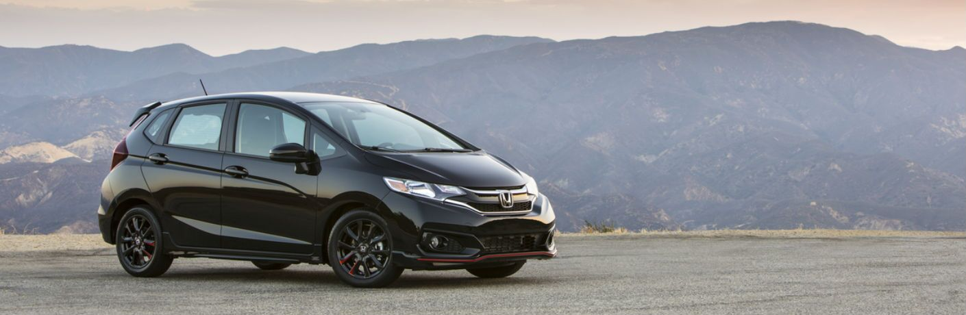 2019 Honda Fit in Black Side View