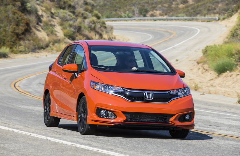 2019 Honda Fit in Orange Front View