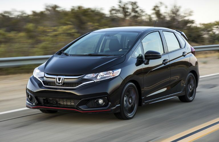 2019 Honda Fit in Black Front Side View