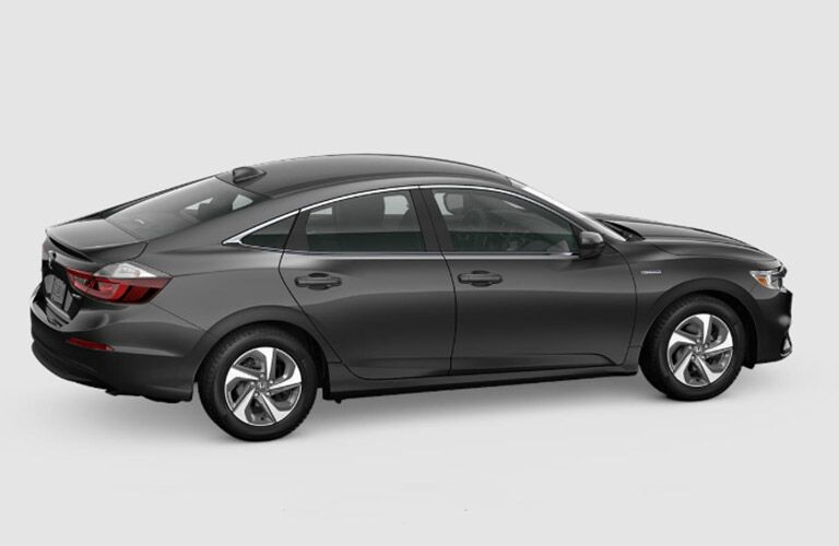 2019 Honda Insight dark Gray passenger side view