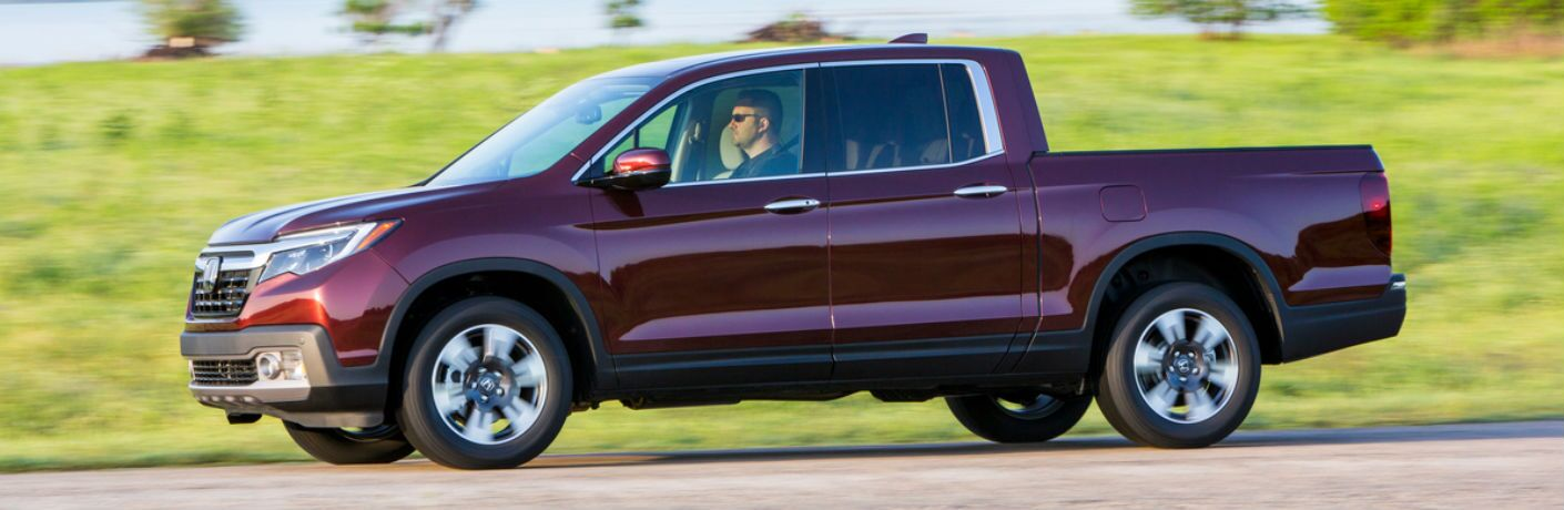 2019 Ridgeline in Red Side View