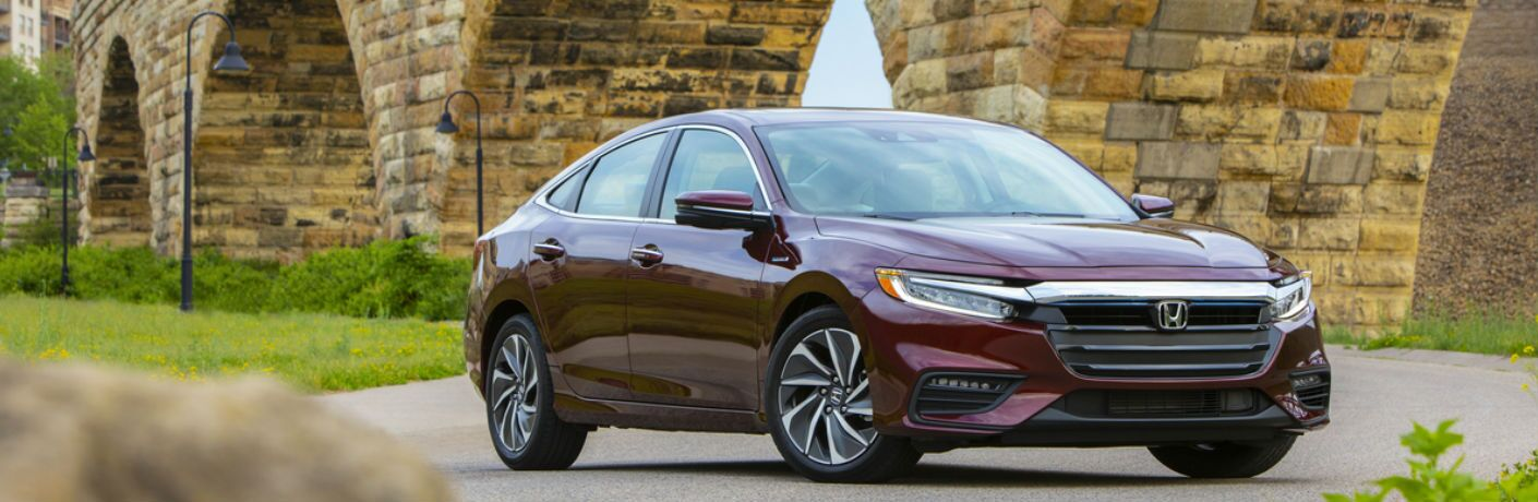 2019 Honda Insight in Red Side Front View