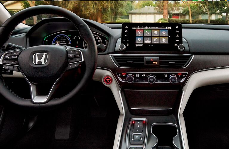 2022 Honda Accord Hybrid Steering Wheel and Dashboard