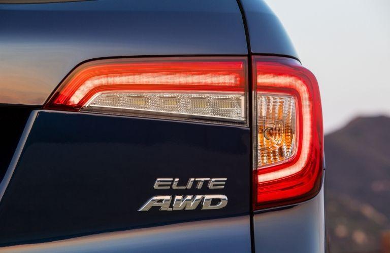 Close Up of 2022 Honda Pilot Elite AWD Badge