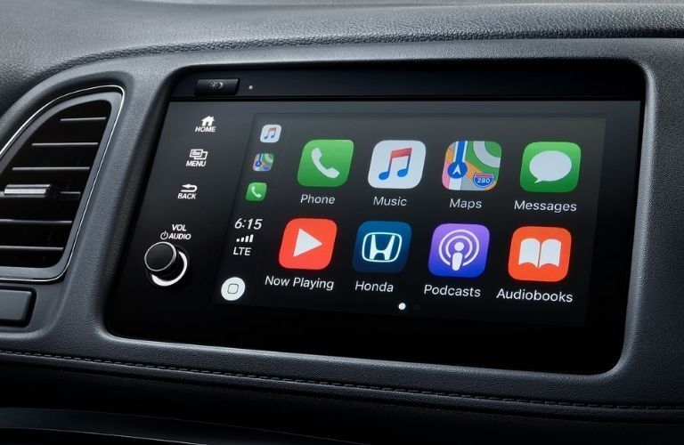 View of the 7-inch touchscreen display system in the 2022 Honda HR-V