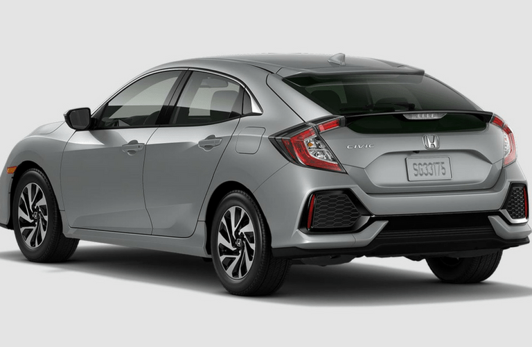 2017 Honda Civic Hatchback LX MT Rear