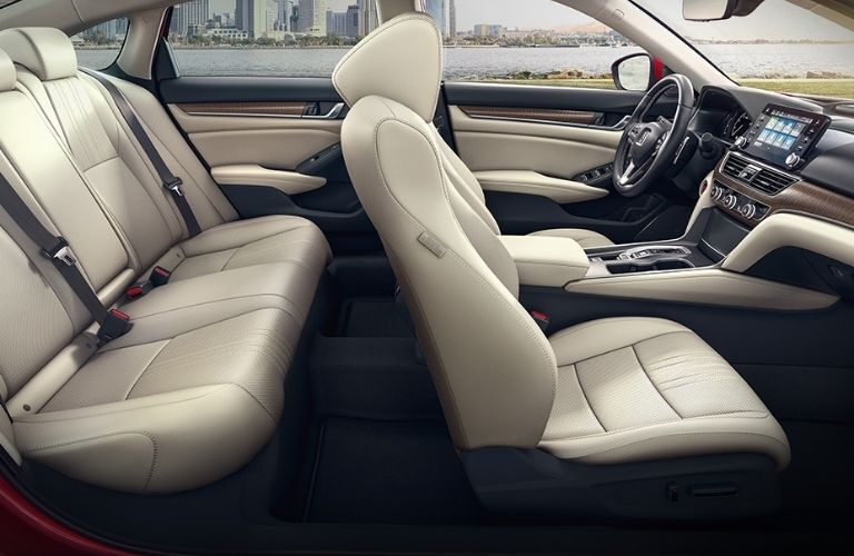 View of the interior seats of the 2022 Honda Accord