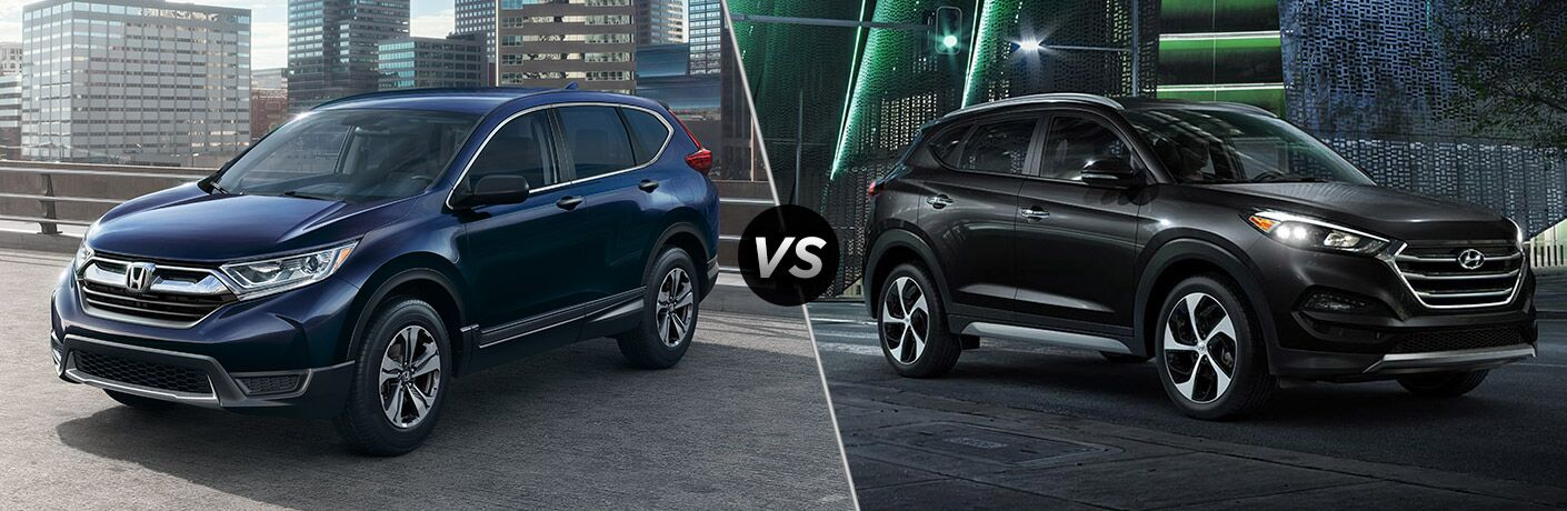A side-by-side comparison of the 2018 Honda CR-V vs. 2018 Hyundai Tucson.