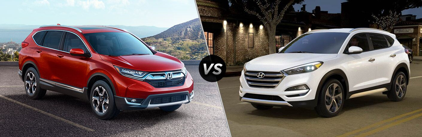 Another side-by-side comparison of the 2018 Honda CR-V vs. 2018 Hyundai Tucson.