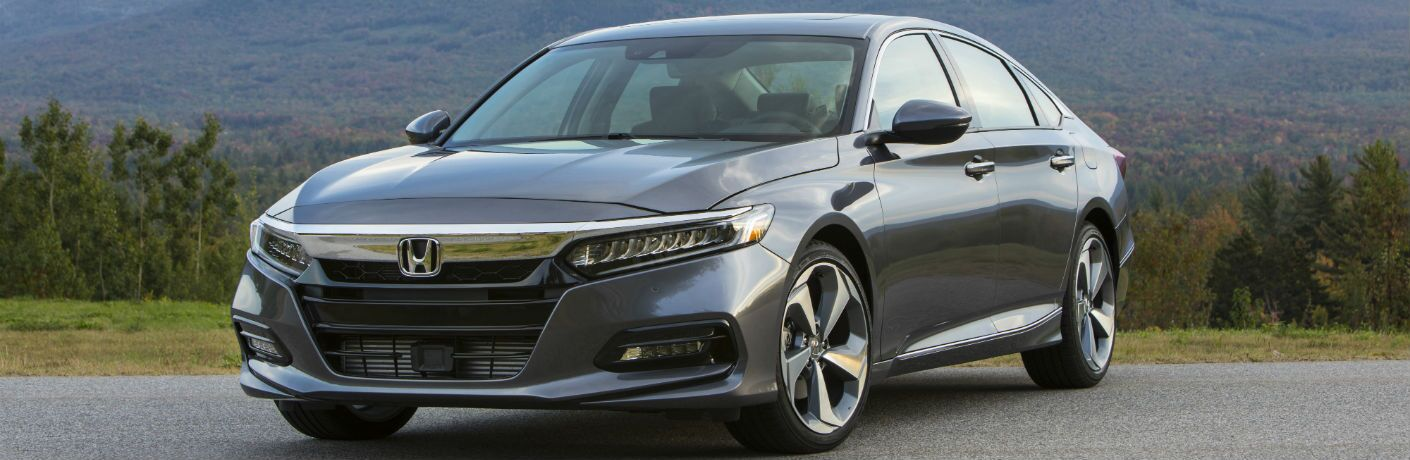 A front right quarter photo of the 2019 Honda Accord.