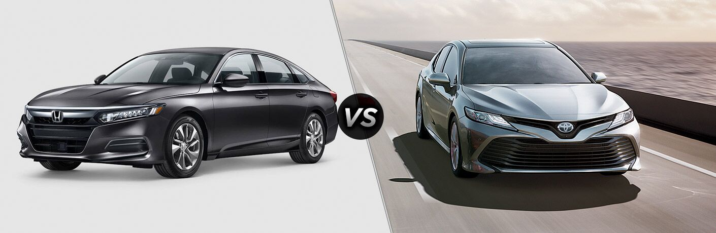 Another side-by-side comparison of the 2019 Honda Accord vs. 2019 Toyota Camry.