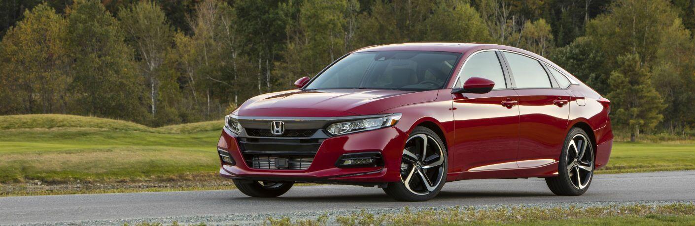 A left profile photo of the 2019 Honda Accord.