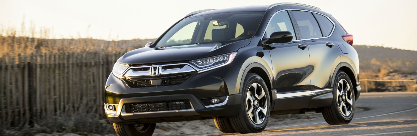 A front-right quarter photo of the 2019 Honda CR-V.