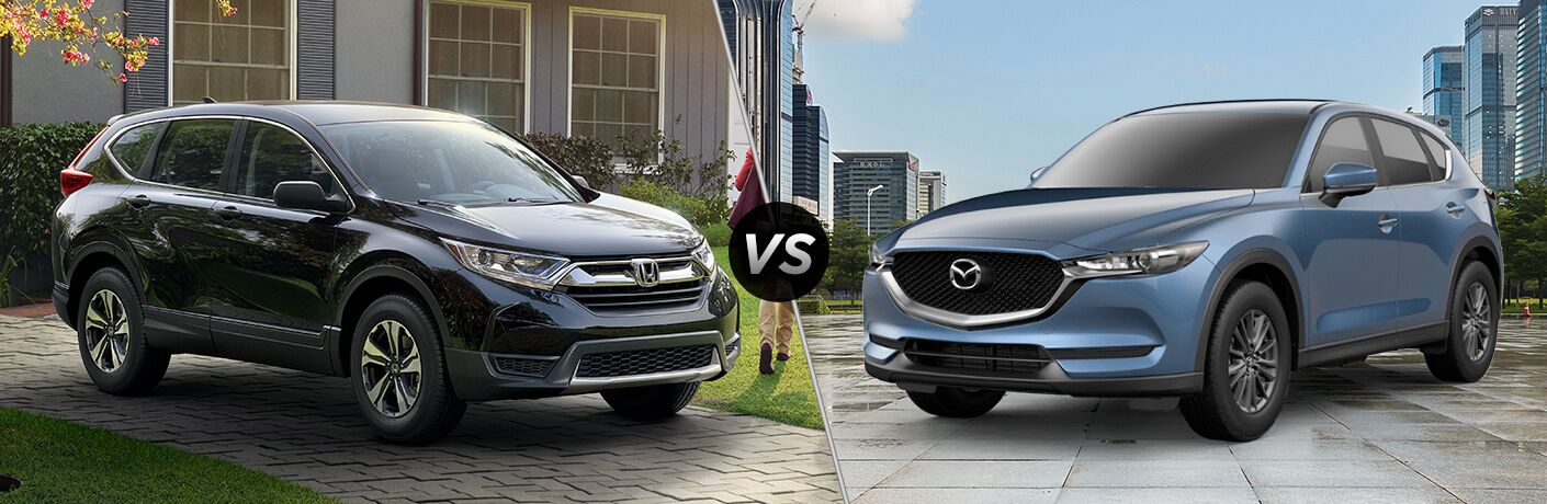 A side-by-side comparison of the 2019 Honda CR-V vs. 2019 Mazda CX-5.