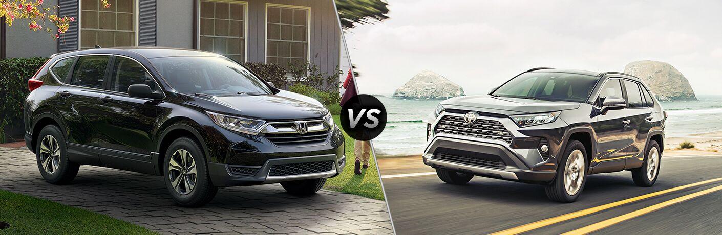 A side-by-side comparison of the 2019 Honda CR-V vs. 2019 Toyota RAV4.