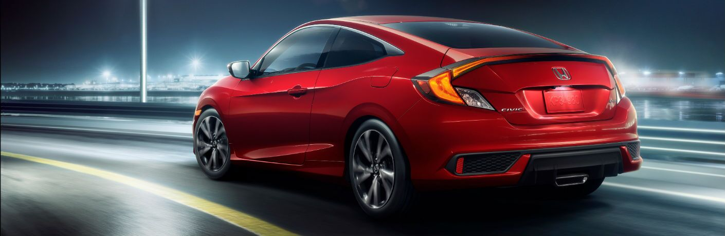 A photo illustration of the 2019 Honda Civic Coupe.