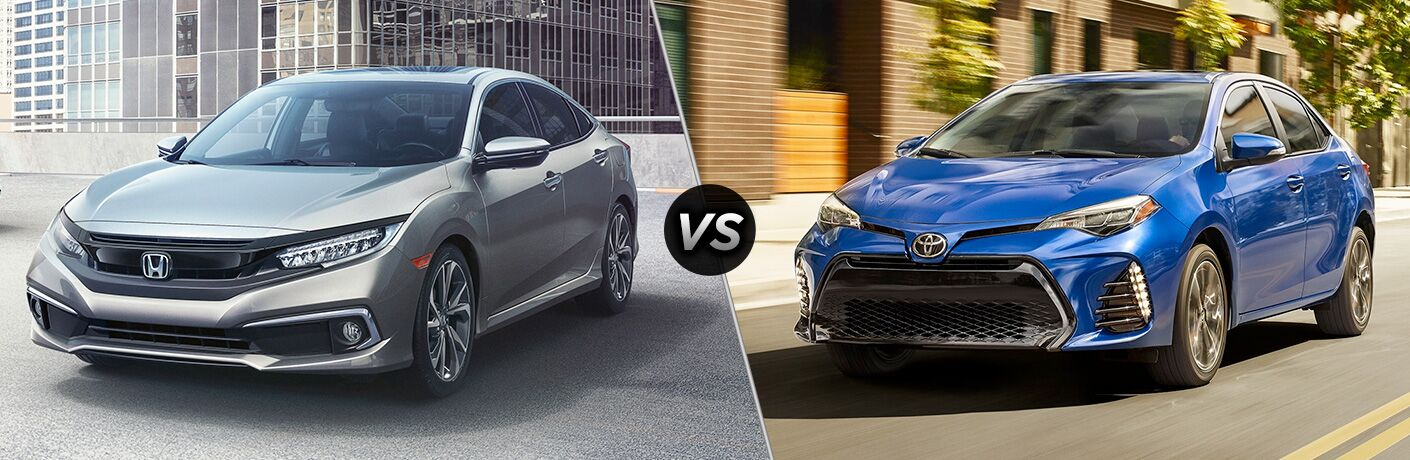 A side-by-side comparison of the 2019 Honda Civic Coupe vs. 2019 Toyota Corolla.