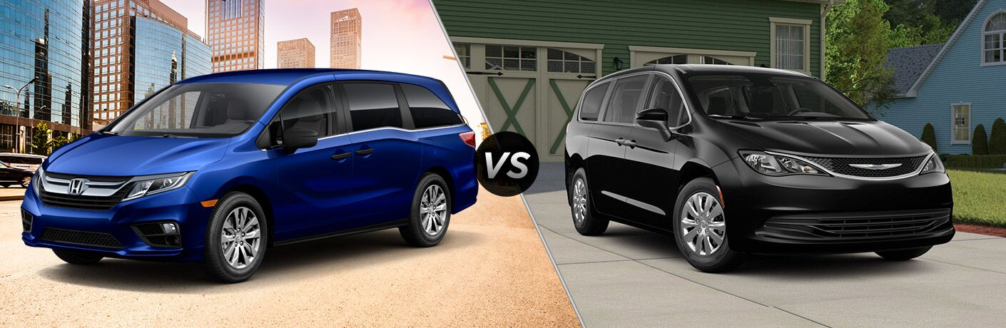 A side-by-side comparison of the 2019 Honda Odyssey vs. 2019 Chrysler Pacifica.