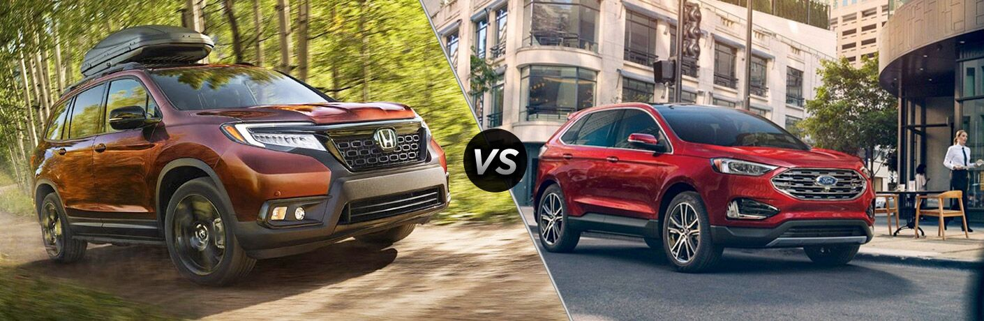 A side-by-side comparison of the 2019 Honda Passport vs. 2019 Ford Edge.