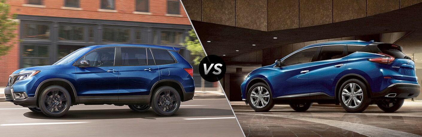 A side-by-side comparison of the 2019 Honda Passport vs. 2019 Nissan Murano.