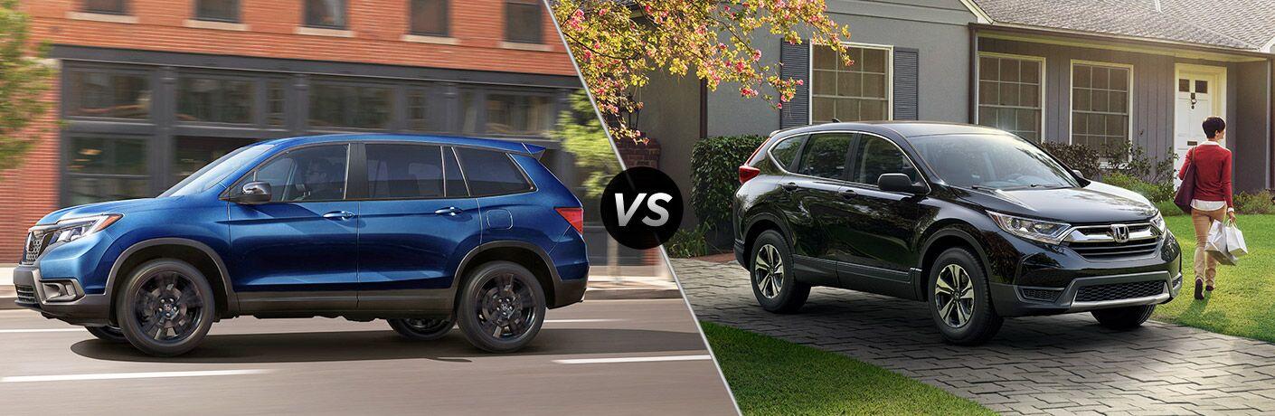 A side-by-side comparison of the 2019 Honda Passport vs. 2019 Honda CR-V.