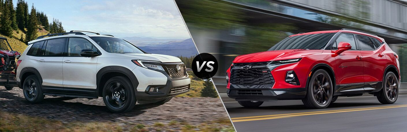 A side-by-side comparison of the 2019 Honda Passport vs. 2019 Chevy Blazer.
