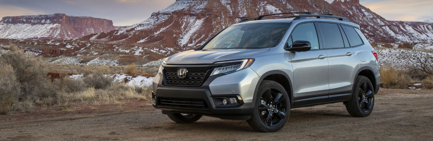 A left profile photo of the 2019 Honda Passport.