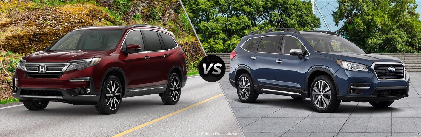 A side-by-side comparison of the 2019 Honda Pilot vs. 2019 Subaru Ascent.