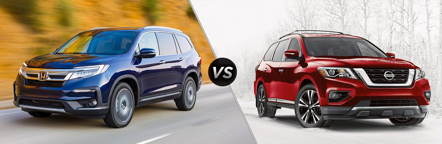 A side-by-side comparison of the 2019 Honda Pilot vs. 2019 Nissan Pathfinder.