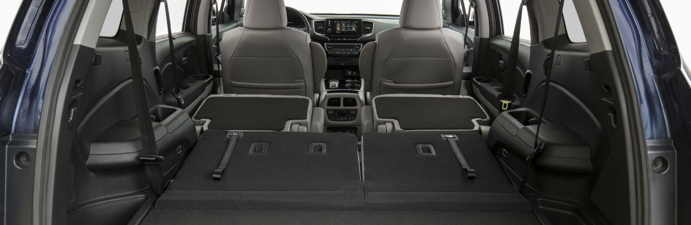 A photo of the rear cargo area of the 2019 Honda Pilot.
